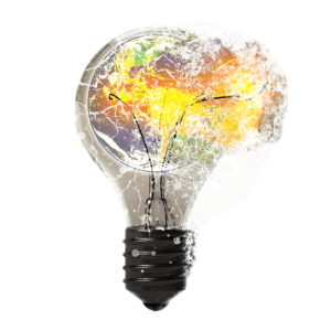 Explodierende Glühbirne Birne Lampe Erde Welt