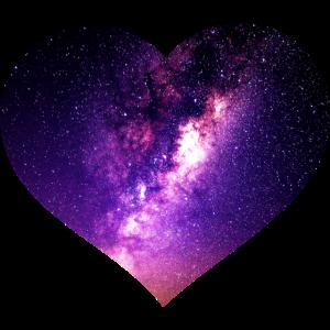 Weltraum Weltall Herz Mond Galaxie Sterne Geschenk