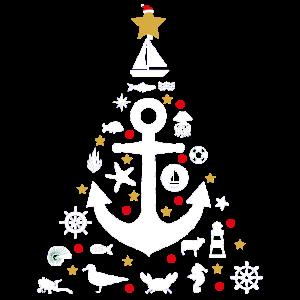 Norddeutsche Weihnachten Tannenbaum Norden Anker