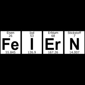 Feiern Chemie