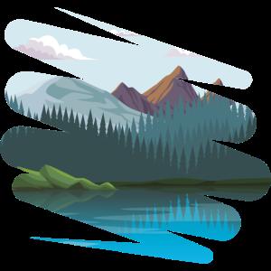 Landschaft mit noch mehr Bergen