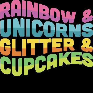 Einhorn Bunte Unicorn Glitzernde Cupcakes Coole