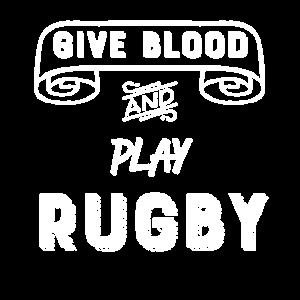 Blut spenden und Rugby lustig spielen