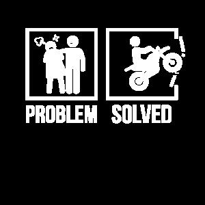 Motorradfahrer Problem gelöst Beziehung Motorrad