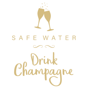 Safe Water Drink Champagne Silvester Geschenk