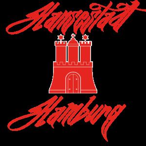 Hansestadt Hamburg rot