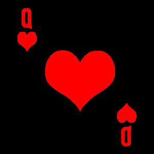 Herzdame Dame Herz Spielkarte Kartenspiel Geschenk