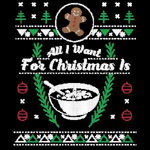 Essen hässliches Hemd des Getreide-Weihnachten