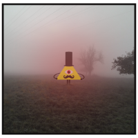 Dreieck Dude im Nebel