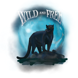 Wild and free panther