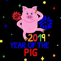 SchweinSau Neujahr 2019 Tier Schweinchen Geschenk