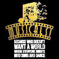 Musicals platzen in Lied und Tanz lustiges T-Shirt