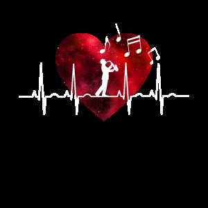 Herzschlag Saxophon