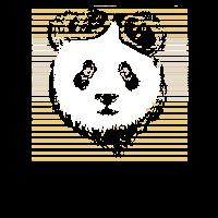 Panda Bär Retro Naturfans