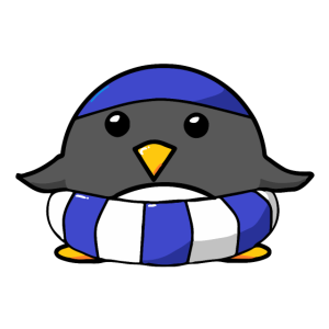 Pinguin Bademeisterin Rettungsschwimmer Schwimmen