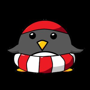 Pinguin Schwimmreifen Badekappe Schwimmen Sport