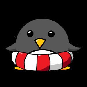 Pinguin Bademeister Rettungsschwimmer Geschenk