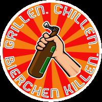 Grillen, Chillen, Bierchen killen. Filled White