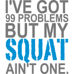 99 Problems, Training, Crossfit, No Pain, Squat