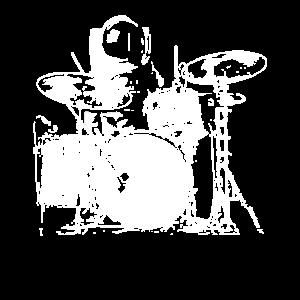 Space Drummer - Drummer T-Shirt