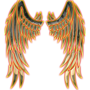 Angel gold wings