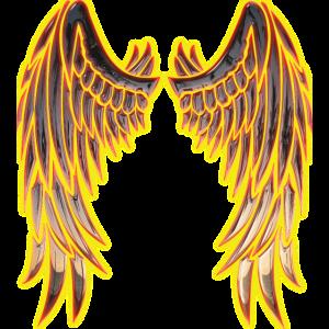 Angel glowing wings
