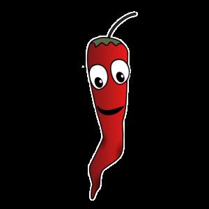 lustige Chilischote, scharf, Gemüse, Paprika chili