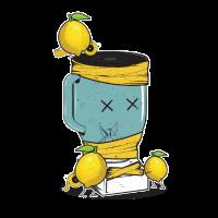 Die Zitronen Rache an dem Mixer