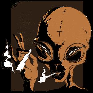 Weed kiffen Cannabis Smoke Gras Universum Geschenk