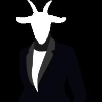Ziegen Boss mit Anzug