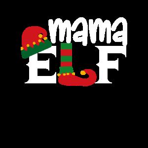 Mama Elfe Geschenk Familie Weihnachten Lustig