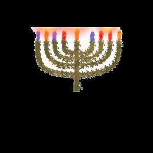 Chanukkiya mit Kerzen