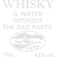 Whisky is water, Label