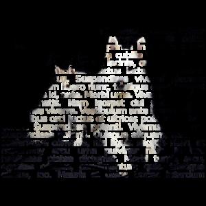 Weißer Schäferhund Text Portrait Kunst!