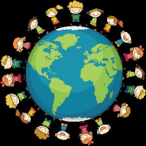 Viele Kinder Erde Planet Lustiges Geschenk