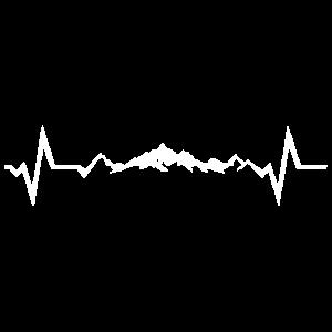 Emotionales Berg Lover EKG Design Geschenkidee