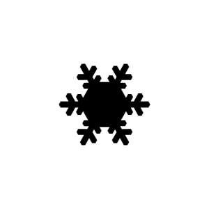 Schneeflocke schick