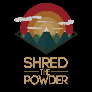 Snowboard Ski Shred the Gnar Powder snow Geschenk