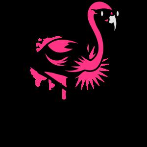 Flamingo mit Sonnenbrille