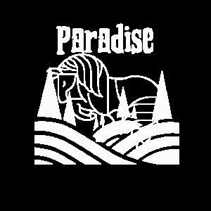 Vintage Paradies Horse Ride Gift Pferde Reiten