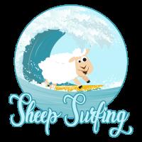 Surfendes Schaf Surfing Schäfchen Geschenk Idee