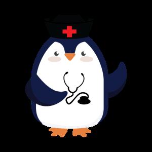 Pinguin als Arzt