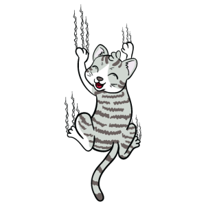 Kratzende Katze Kratzter Lustig Geschenk