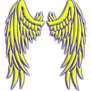 Angel yellow wings
