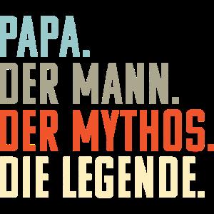 Papa Mann Mythos Legende: Retro Vatertags Geschenk