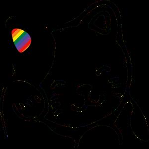 happy cat rainbow