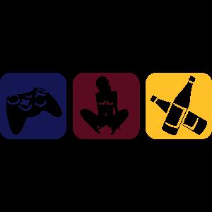 Drei Hobbys in farbe