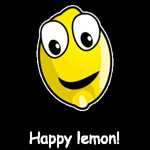 Happy lemon, glückliche Zitrone, lustiges obst