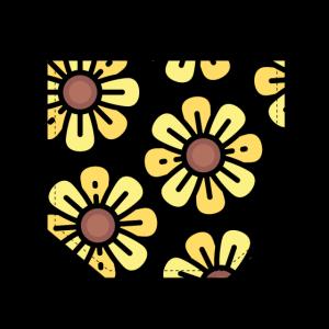 Brusttasche Sonnenblume Geschenk Idee