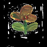 T-shirt mit Blume, Kinderzeichnung